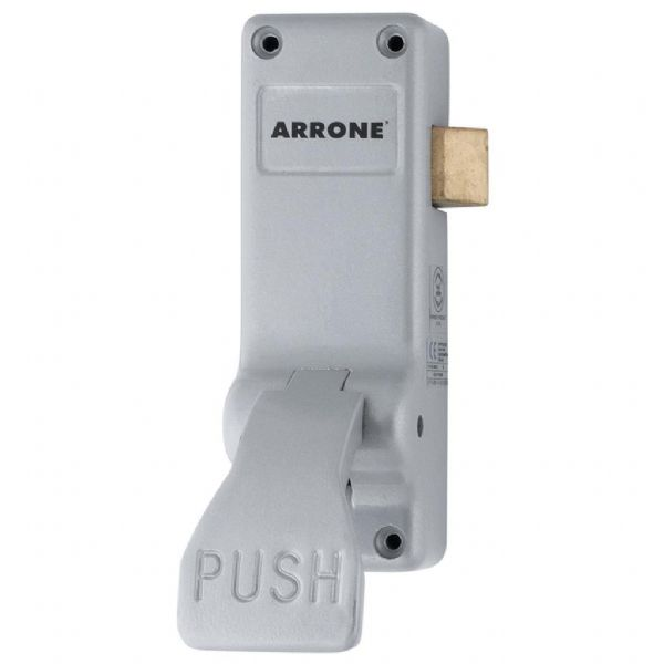 Arrone® Single Door Push Pad Latch - Silver - AR883